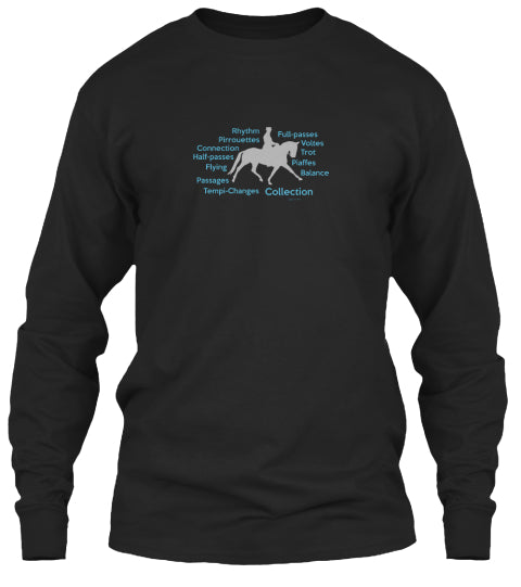 Dressage  Equestrian Horse Theme Long Sleeve Unisex Shirt