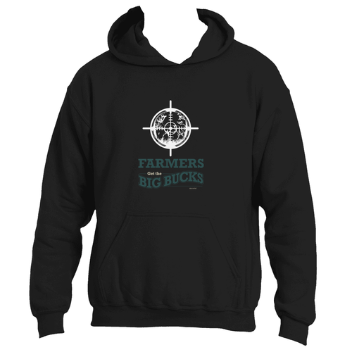 Farmers Get the Big Bucks Funny Deer Hunting Adult Hoodie
