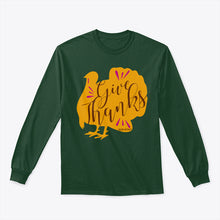 Give Thanks Thanksgiving Turkey Adult Long Sleeve TShirt