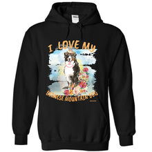 I Love My Bernese Mountain Dog Unisex Adult  Hoodie Girl Dog Version