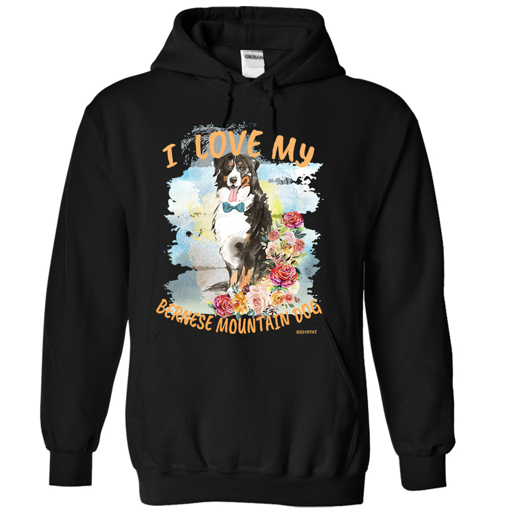 I Love My Bernese Mountain Dog Unisex Adult  Hoodie Boy Dog Version