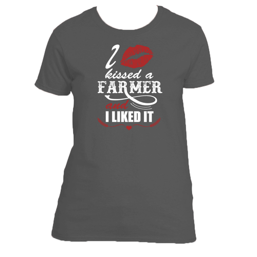 I Kissed a Farmer and I Liked It Adult Size Premium TShirt Womens and Unisex