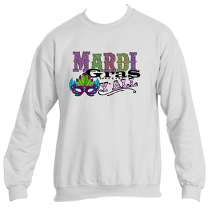 Mardi Gras Y'All Fun Mask Theme Sweatshirt