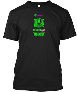 Margaritas & Bunco Fun Bunco Meetup Party Shirt