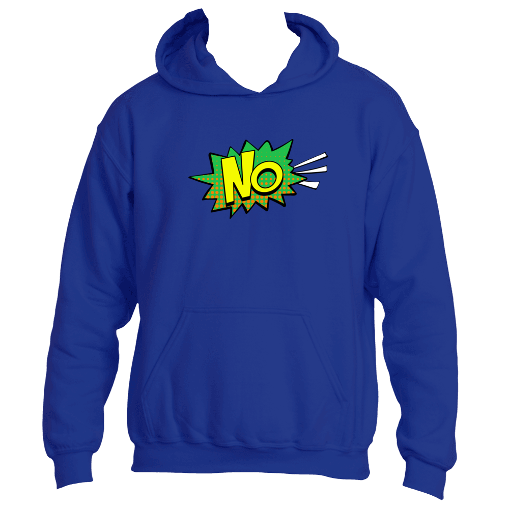 No! Comic Bubble Funny Adult Hoodie