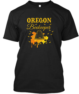 Oregon Beekeeping Shirt for the Oregon Beekeeper T-Shirt