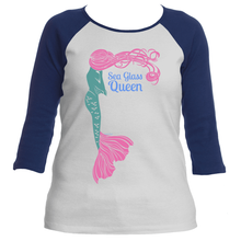 Sea Glass Queen Mermaid Women's Raglan T-Shirt