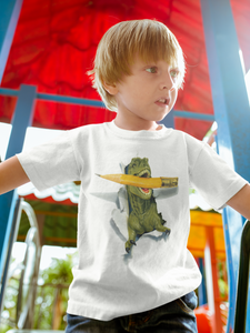 Fun T-Rex Dinosaur and Pencil Breakout TShirt