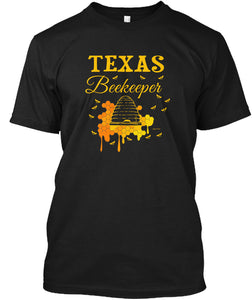 Texas Beekeeping Shirt for the Texan Beekeeper T-Shirt