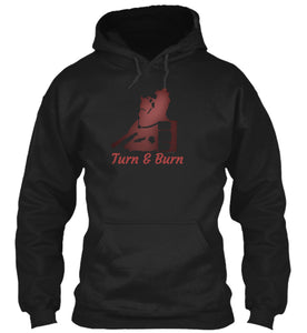 Turn and Burn Barrel Racer Horse Hoodie