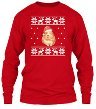 Ugly Christmas Sweater Long Sleeve T-Shirt Santa Guinea Pig
