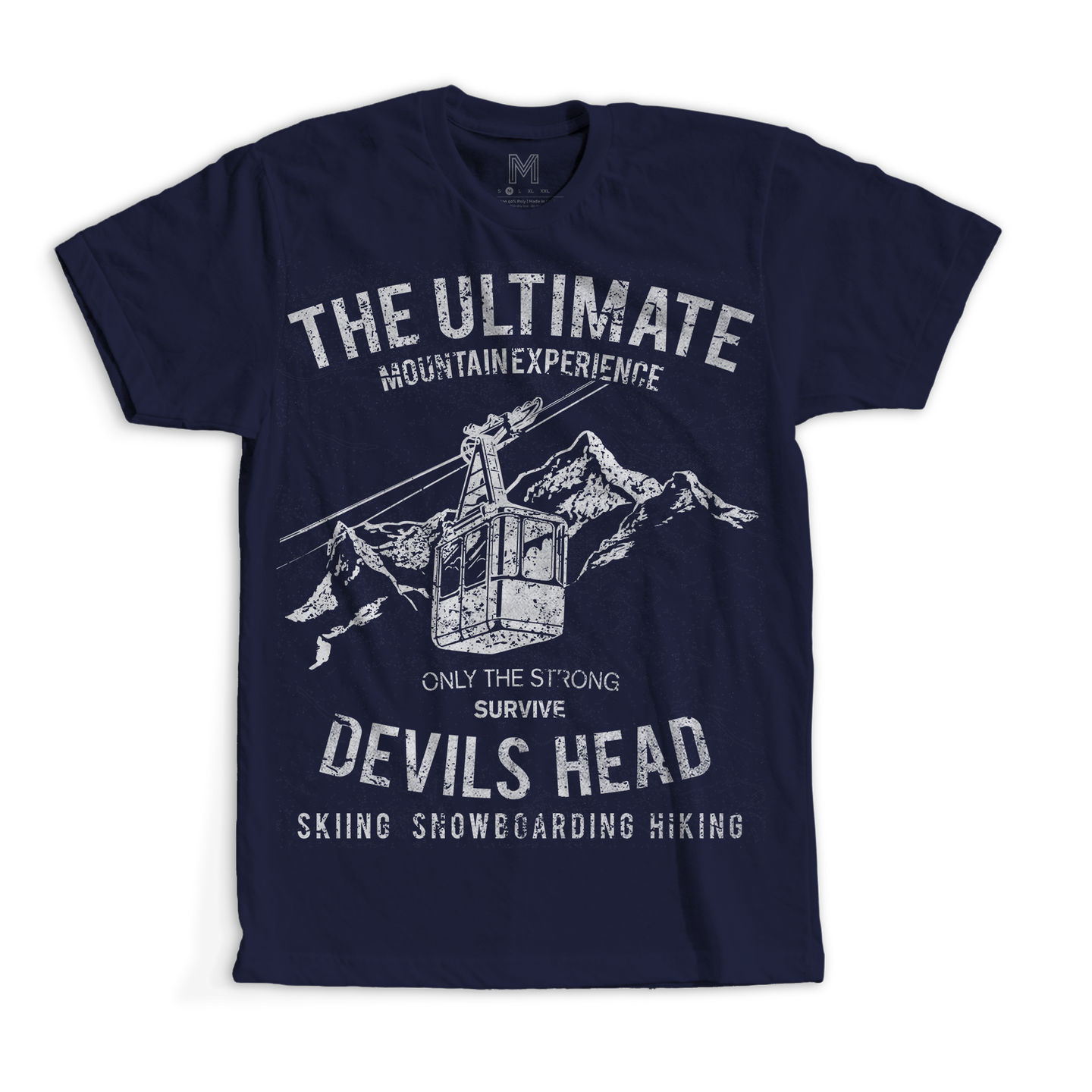 Vintage Style Devil's Head Skiing Men's and Youth TShirt