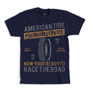 Vintage Style American Tire Men's and Youth TShirt