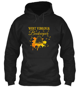 West Virginia Beekeeper Beekeeping Hoodie