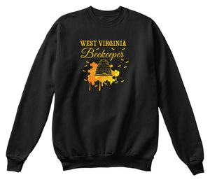 West Virginia Beekeeper Beekeeping Sweatshirt
