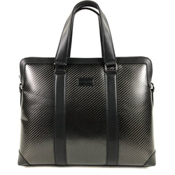 Carbon Fibre Laptop Briefcase Messenger Bag - Mindbendr