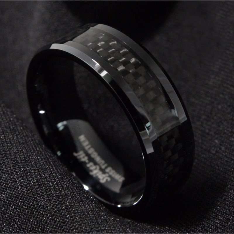 Triple Black Carbon Fibre Ring - Mindbendr