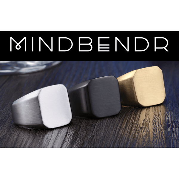 Mindbendr Stainless Steel Black Ring - Mindbendr