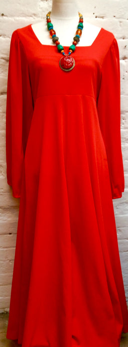 1970s True Vintage Red Dress Size 12