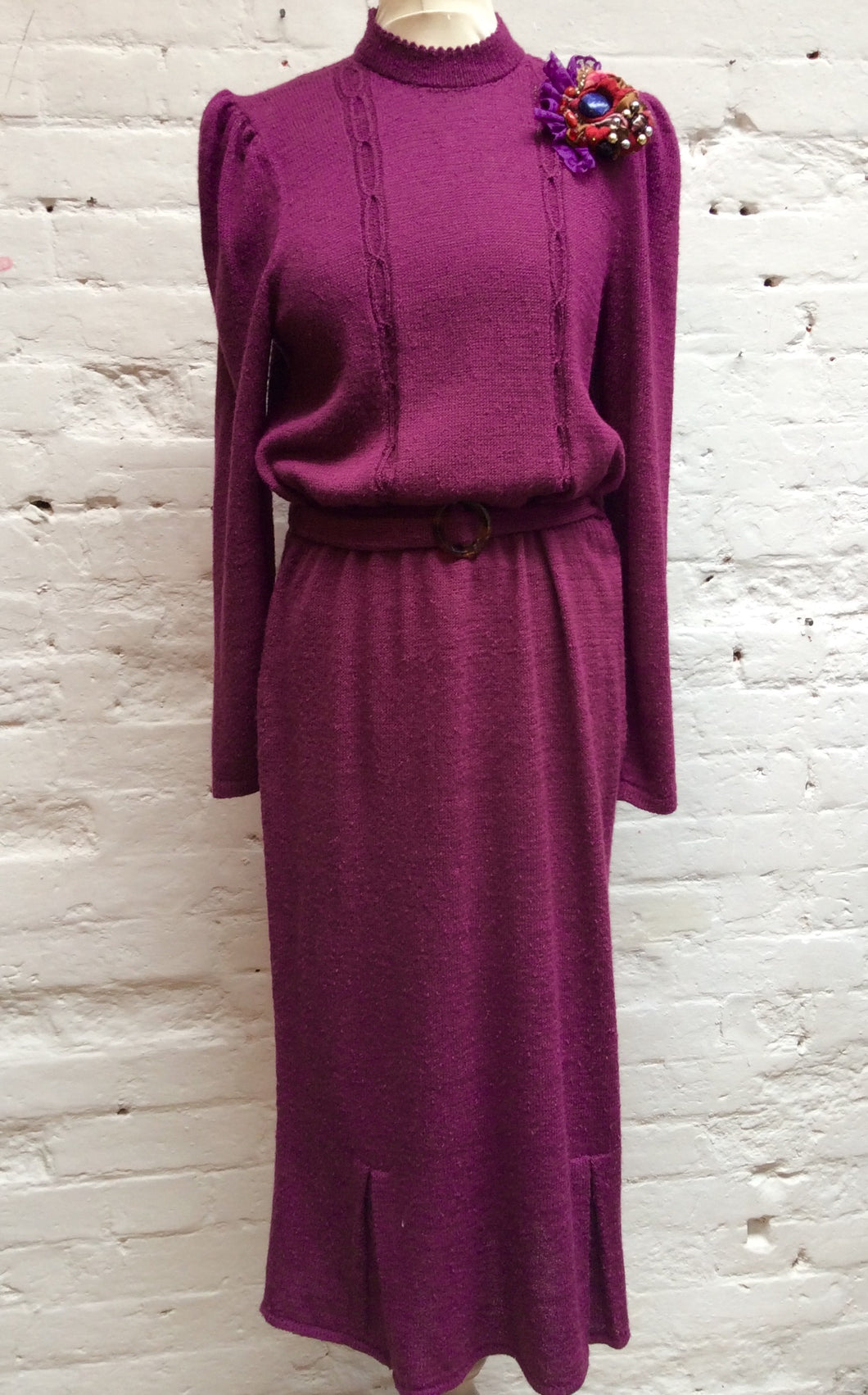 80s Knitted Dress Size 12
