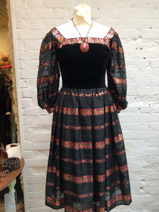 1970s Capriccio Cocktail Dress by Roter London