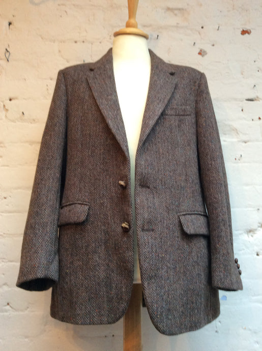 1970s/80s Men's Vintage Harris Tweed Jacket Size 44 Chest