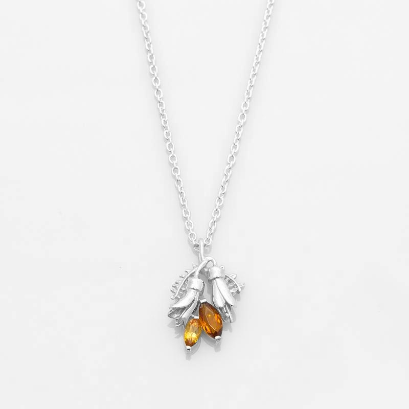Load image into Gallery viewer, Double Kōwhai Flower Pendant