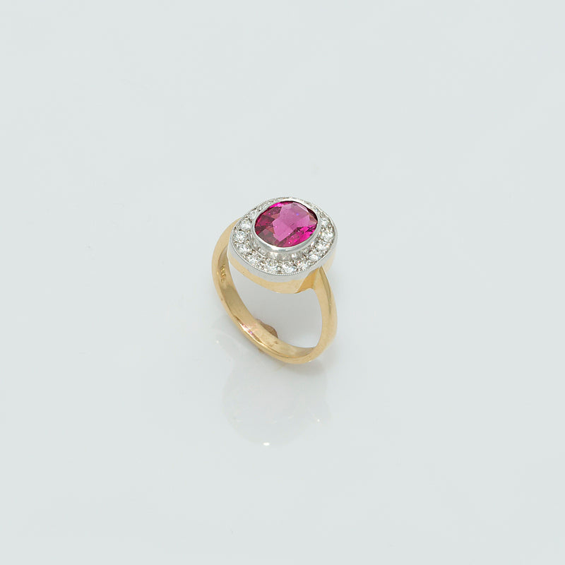 Load image into Gallery viewer, Pink Tourmaline Ring