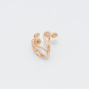 Fern Frond Bush Ring