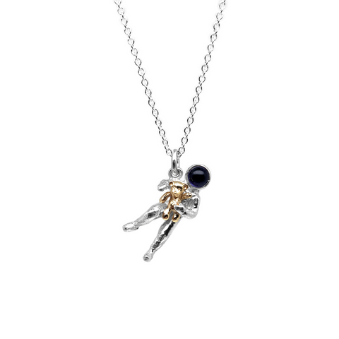 Spaceman with Teddy Pendant