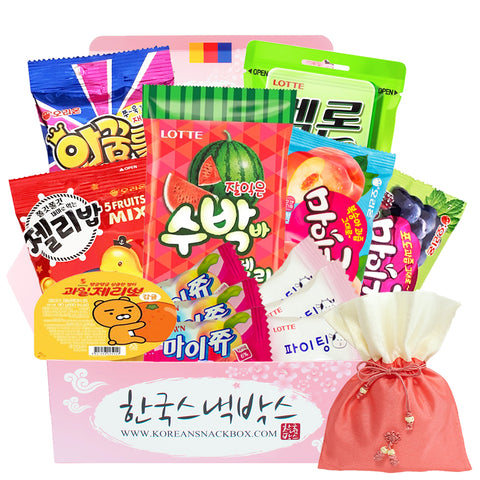 Candy Jelly Korean Snack Gift Box - Subakba Jelly, Kakao Talk Jellies, Jelly Bab, Maigumi, Jellyday, MyChew, Malang etc. - K-snacks