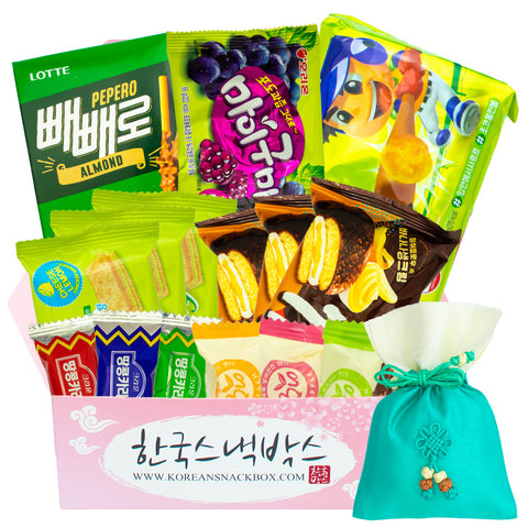 Green Forests July - Korean Snack Monthly Subscription Box - K-snack box