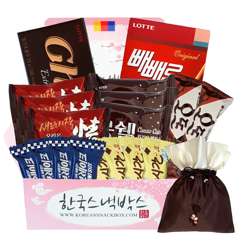 Choco Box Korean Snack Gift Box - Ghana Chocolate, Choco Pie, Mon Cher, Mong shell etc. - K-snacks