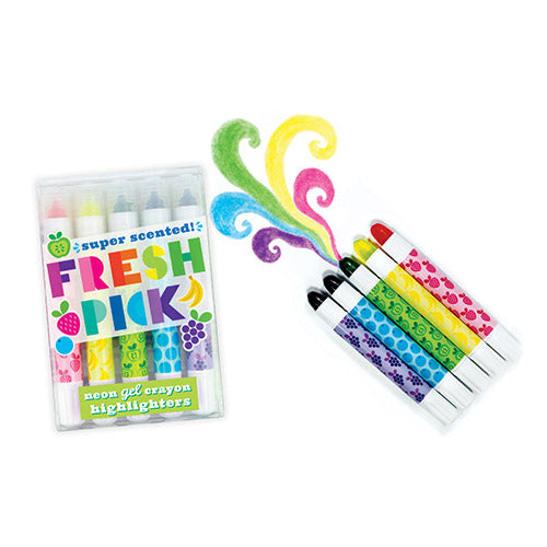 ooly fresh pick scented neon gel crayon highlighters
