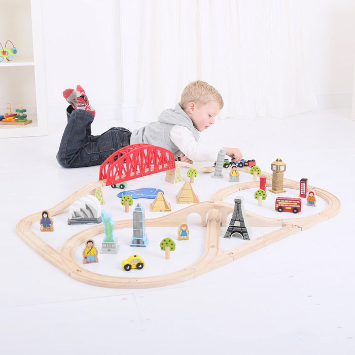 BigJigs Rail Around the World Train Set