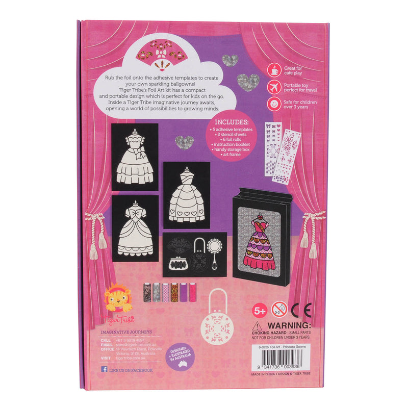 Tiger Tribe Foil Art PRINCESS GOWNS