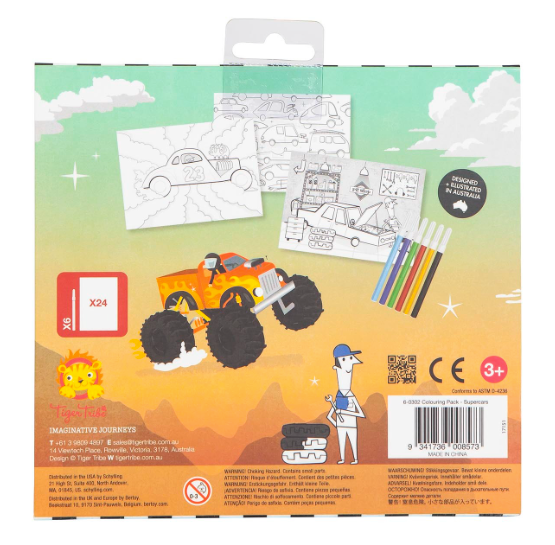 Tiger Tribe Colouring Pack - SUPER CARS
