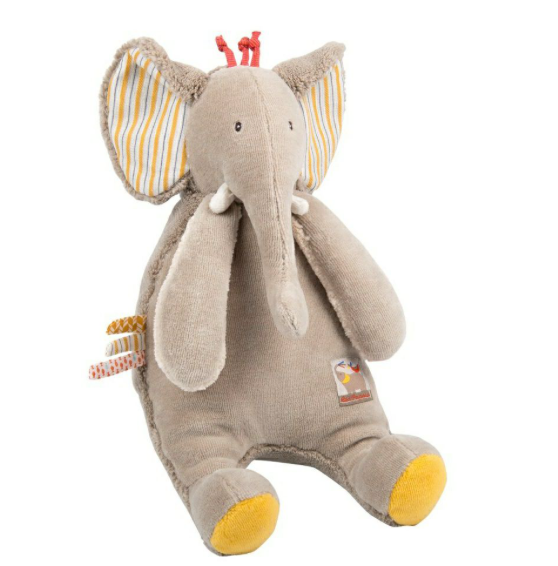 Les Papoum Elephant Soft Toy Moulin Roty
