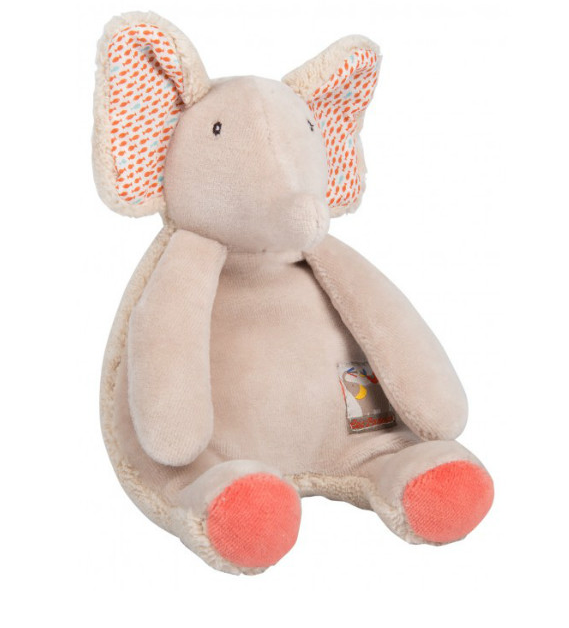 Les Papoum Elephant Rattle Moulin Roty