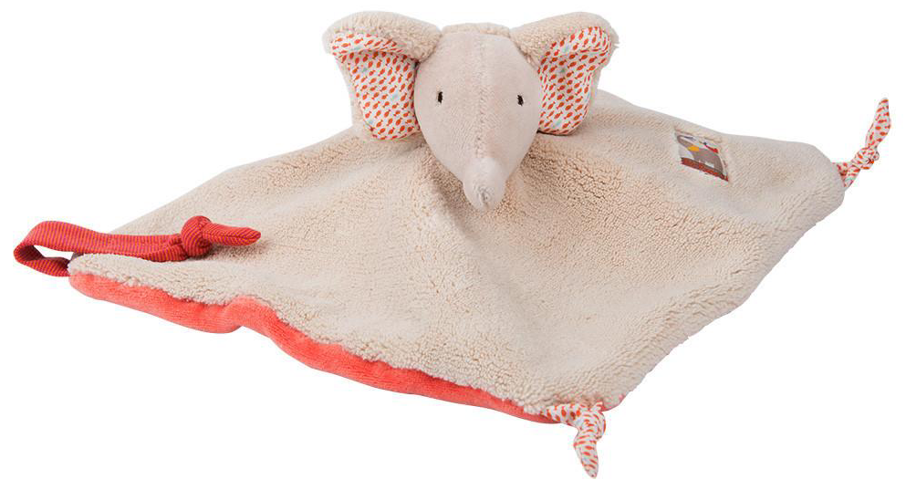 Les Papoum Elephant Baby Comforter Moulin Roty