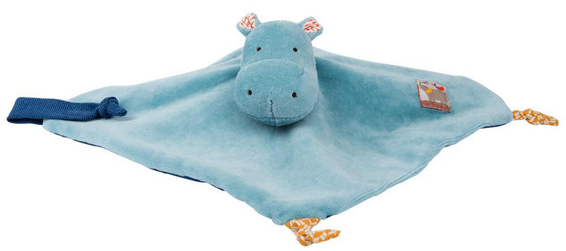 Les Papoum Hippo Baby Comforter Moulin Roty