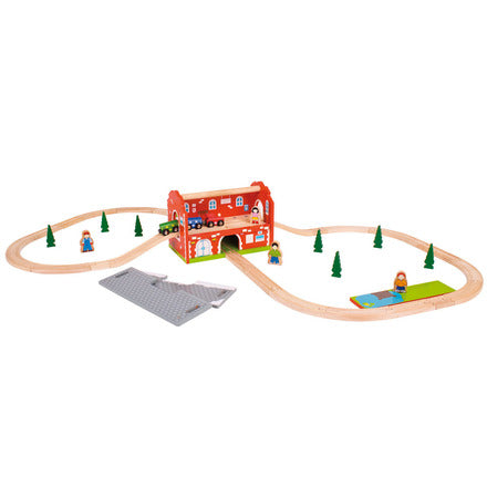 BigJigs Carry Station Train Set