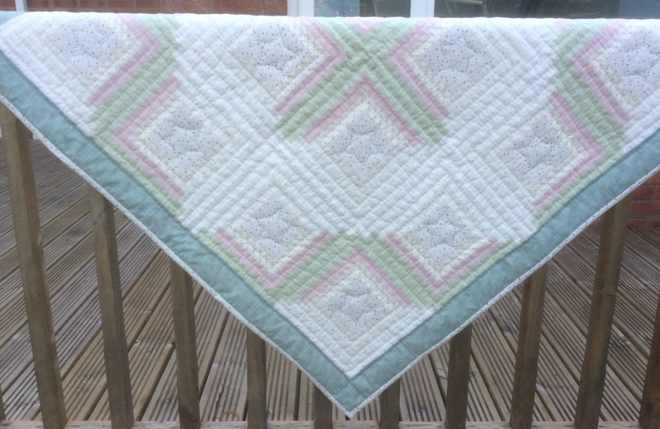 Calming Down Log Cabin Quilt Pattern
