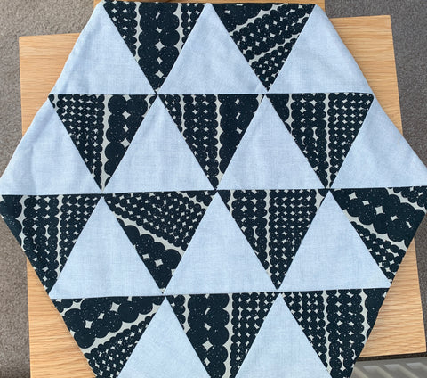 "Ready Made - Triangle Table Mat - Large finished sample 15"" x 15"""