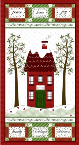 "Holly Hill - Christmas Fabric Panel - 24"" x 42"""