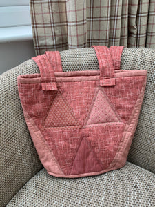 "Ready Made - Pink Triangle Bag finished sample 10"" x 14"""