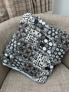 Ready Made - Grey Quillow Cushion and quilt in one