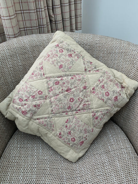 Ready Made - Red Chambray Quillow Cushion and quilt in one