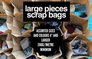 "Large Pieces Scrap Bag - Pieces larger than 4"" square"