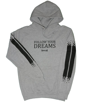 Follow Your Dreams Hoodie - Grau